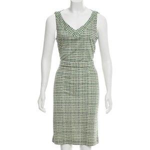 Tory Bruch Green print Silk dress